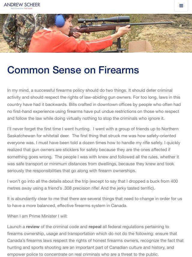 What does a Scheer win mean for gun owners? | CCFR